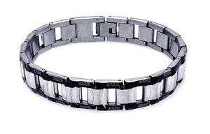 【送料無料】ブレスレット アクセサリ― ネロuomo acciaio inox disegno celtico nero confine braccialelarghezza 121mm216cm
