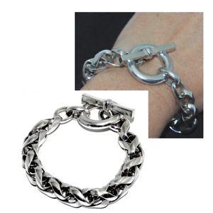 【送料無料】ブレスレット アクセサリ― ブレスレットメッシュパームbig silver plated bracelet mesh palm 10mm 20cm jewel
