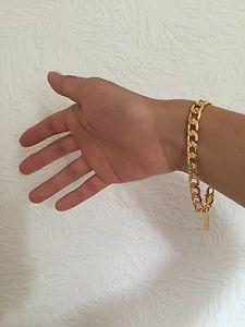 【送料無料】ブレスレット アクセサリ― セールライフタイムkゴールドメッキチェーンブレスレットメンズプレゼント lifetime warranty 8mm 8 18k gold plated chain bracelet mens birthday gift