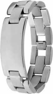 【送料無料】ブレスレット アクセサリ― アレルゲンプレートantiアクセントmensステンレスブレスレットaccent mens stainless steel bracelet with engraving plate anti allergenic