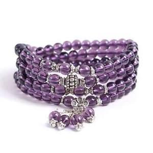 【送料無料】ブレスレット アクセサリ― アメジストcetiamethyst braceletctipurple