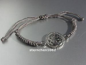 【送料無料】ブレスレット アクセサリ― ブレスレットグレースチールoriginal dreamcatcher bracelet * textile grey * flower * steel