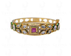 【送料無料】ブレスレット アクセサリ― ルビージルコンファッションジュエリーブレスレットグリーンエナメルruby amp; zircon studded fashion jewelry bracelet with green enamel work fb1237