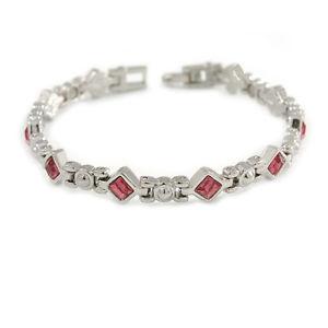 【送料無料】ブレスレット アクセサリ― メタルピンククリスタルモチーフレディースブレスレットplated alloy metal pink crystal stones with bow motif ladies magnetic bracelet
