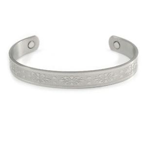 【送料無料】ブレスレット アクセサリ― セルティックカフブレスレットmen women celtic floral pattern silverplated copper magnetic cuff bracelet with