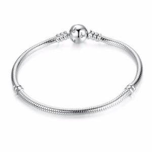 【送料無料】ブレスレット アクセサリ― スターリングシルバースネークチェーンブレスレットhigh quality sterling silver snake chain charm bracelet diy b01