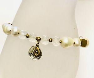 【送料無料】ブレスレット アクセサリ― ダウンアースストレッチブレスレットパールスターリングシルバーsilpada down to earth stretch bracelet pearl brass sterling silver b3168