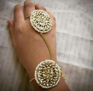 【送料無料】ブレスレット アクセサリ― ウェディングリングブレスレットkundan high quality handmade wedding ring bracelet jv54014
