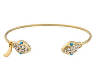 【送料無料】ブレスレット アクセサリ― エジプトリバイバルデザイナークリスタルラインストーンゴールドスネークカフブレスレットegyptian revival designer crystal rhinestone gold serpent snake cuff bracelet