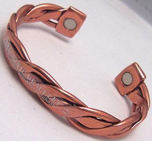 【送料無料】ブレスレット アクセサリ― ブレスレットウィーラーcopper amp; magnets bracelet wheeler arthritic sciatica pain healing cbm 155