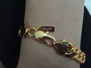 【送料無料】ブレスレット アクセサリ― ライフタイムkゴールドメッキチェーンブレスレットプレゼントlifetime 9 sg1008 18k gold plated stoneless chain bracelet anklet birthday gift