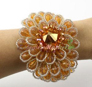 【送料無料】ブレスレット アクセサリ― クリスタルフラワーハンドメイドブレスレットn16110904 crystal flower handmade bracelet
