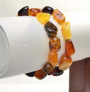 【送料無料】ブレスレット アクセサリ― ロットバルトブレスレットマルチカラーlot 2 whole baltic amber bracelet multi color adult 23 g ta2012