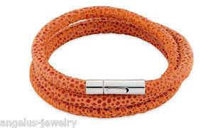 【送料無料】ブレスレット アクセサリ― ブレスレットカラーオレンジalraune, leather bracelet viper , colour orange, 57 cm,
