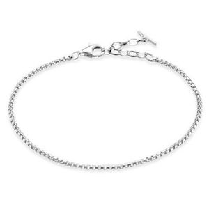 【送料無料】ブレスレット アクセサリ― トーマススターリングシルバークラシックファインボックスブレスレットgenuine thomas sabo sterling silver classic fine box bracelet ta1561