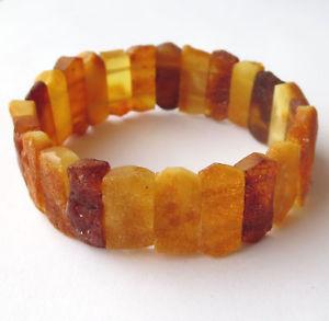 【送料無料】ブレスレット アクセサリ― ハンドメイドバルトストレッチブレスレットhandmade natural unpolished raw baltic amber elastic stretch bracelet 65