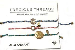 【送料無料】ブレスレット アクセサリ― アレックススレッドブレスレットalex and ani crystal precious threads blue set of 3 braceletnwt
