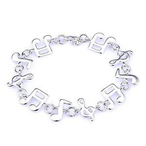 【送料無料】ブレスレット アクセサリ― メッキブレスレット20xsilverplated music note bracelet a7d3