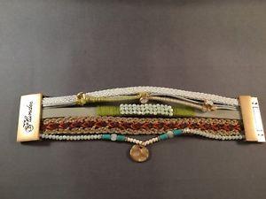 【送料無料】ブレスレット アクセサリ― エリーゼブレスレットマルチストランドビーズストラップブレードゴールドクロージャplunder jewelry elise bracelet multistrand beads straps braids gold closure