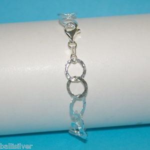 【送料無料】ブレスレット アクセサリ― スターリングシルバーフラットチェーンブレスレットサイズ925 sterling silver 10mm round flat hammered chain bracelet made to your size