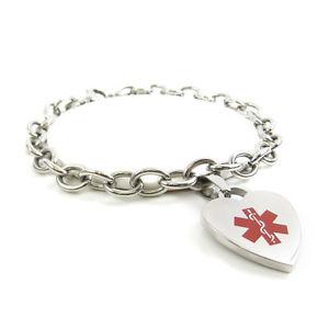 【送料無料】ブレスレット アクセサリ― ペニシリンブレスレットスチールmyiddr womens penicillin allergy bracelet, medical charm steel, preengraved