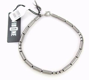 【送料無料】ブレスレット アクセサリ― デザイナースチールトーンステンレススチールゴムビーズブレスレットdesigner fibo steel two tone stainless steel amp; rubber bead bracelet 9 j x