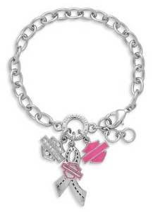 【送料無料】ブレスレット アクセサリ― ハーレーダビッドソンピンクラベルクリスタルバーシールドリボンブレスレットharley davidson pink label crystal bar amp; shield ribbon charm statement bracelet