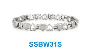 【送料無料】ブレスレット アクセサリ― オープンクローズステンレススチールリンクブレスレットsilver open and close heart women magnetic stainless steel link bracelet