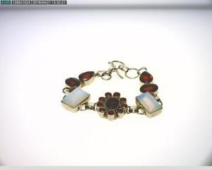 【送料無料】ブレスレット アクセサリ―  listingsterling silver 8 bracelet with synthetic red and opalescent stones b4163