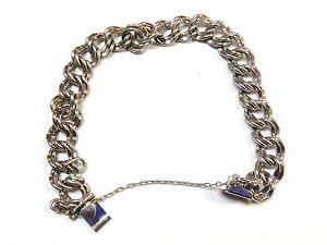 【送料無料】ブレスレット アクセサリ― スターリングシルバーブレスレットリンクハートクラスプダブルforstner sterling silver bracelet double link, heart on clasp 6 12 free samp;hcol