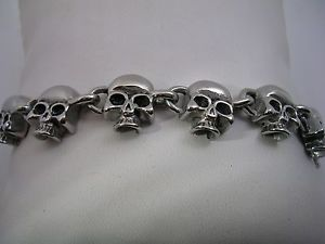 【送料無料】ブレスレット アクセサリ― skull head bracelet in stainless steel comes in8128712 and 7skull head bracelet in stainless steel comes in 8 12, 8, 7 1