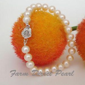 【送料無料】ブレスレット アクセサリ― ラウンドホワイトパールブレスレットgenuine round 89mm white pearl bracelet 75 cultured freshwater