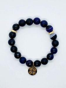 【送料無料】ブレスレット アクセサリ― カフパープルゴールドビーズブレスレットドルrustic cuff purple and gold erika beaded bracelet retail 54