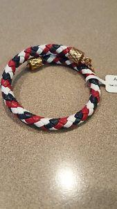【送料無料】ブレスレット アクセサリ― アレックスアメリカチームレザーラファエリアンゴールドラップalex and ani team usa braided leather wrap rafaelian gold