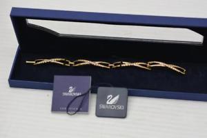 【送料無料】ブレスレット アクセサリ― swarovskicrystaltwist bracelet{67948b17}signed swarovski crystal goldplated twist bracelet {67948b17}