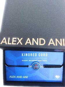 【送料無料】ブレスレット アクセサリ― アレックスチームアメリカキンドレッドコードブレスレットシルバーalex and ani every moment matters team usa kindred cord bracelet silver
