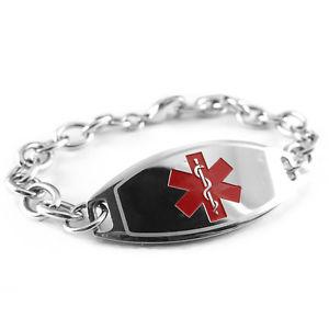【送料無料】ブレスレット アクセサリ― ナットブレスレットカードmyiddr pre engraved nut allergy medical bracelet, free id card