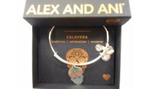 【送料無料】ブレスレット アクセサリ― アレックスカラーブレスレットシルバーalex and ani color infusion calavera bracelet shiny silver nwtbc fall 2017
