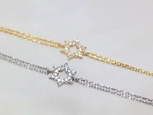 【送料無料】ブレスレット アクセサリ― デイヴィッドブレスレットスターリングシルバーイエローゴールドメッキクリスタルユダヤdavid star bracelet sterling silver yellow gold plated crystal jewish jewelry