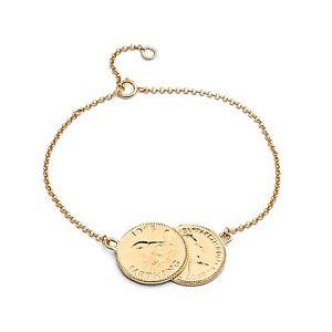 【送料無料】ブレスレット アクセサリ― キャベツスターリングシルバーダブルブレスレット cabbage white, gold plated sterling silver double farthing bracelet