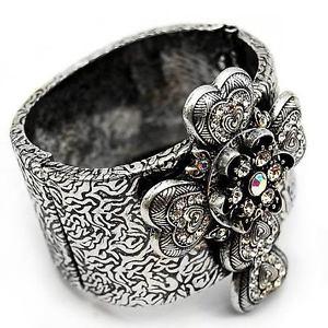 【送料無料】ブレスレット アクセサリ― クールクリスタルブレスレットab cur cristal croix couleur argente charnires bracelet