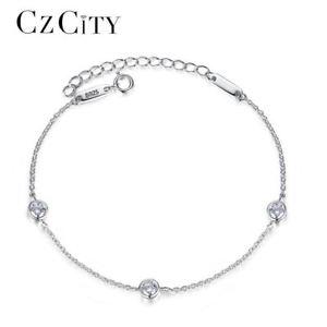 【送料無料】ブレスレット アクセサリ― チェーンシンプルクラシックリンクスターリングシルバーブレスレットcharm women chain link sterling silver bracelet for women simple classic cubic z