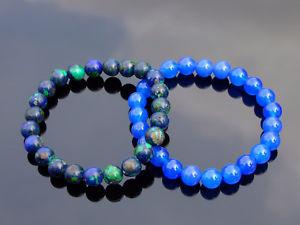 【送料無料】ブレスレット アクセサリ― カップルメノウブレスレットcouple azuriteagate natural gemstone bracelet 69 elasticated healing stone
