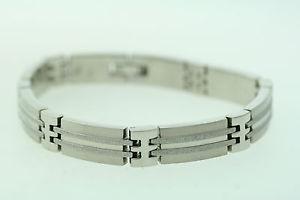 【送料無料】ブレスレット アクセサリ― ステンレススチールストライプインチブレスレットstainless steel 10mm shimmer striped 9 inch bracelet