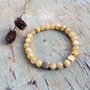 【送料無料】ブレスレット アクセサリ― ストレッチブレスレットビーズluxury stretch bracelet gem stone silver charms 10mm qurtz bead amala jewelry