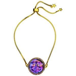 【送料無料】ブレスレット アクセサリ― スライドブレスレットパープルkirks folly seaview water moon 20mm slide bracelet  goldtone purple