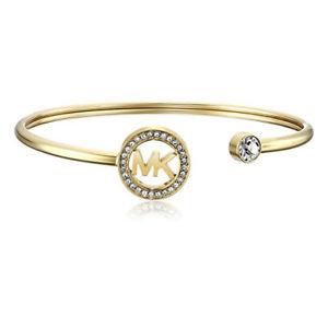 【送料無料】ブレスレット アクセサリ― ミハエルフレックスクリスタルロゴカフフィットブレスレットmichael kors flex fit crystal logo cuff bracelet 3 colors