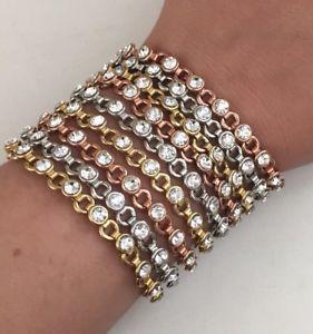 【送料無料】ブレスレット アクセサリ― rachelzoeデザイナートリmultiブレスレットゴールドrachel zoe luxe designer tri color multi chain crystal bracelet gold silver tone