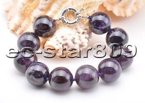 【送料無料】ブレスレット アクセサリ― インチパープルビーズアメジストブレスレットs2192 8inch purple 20mm round bead amethyst bracelet