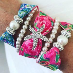 【送料無料】ブレスレット アクセサリ― リボンラインストーンブレスレットセットヒトデstarfish all nighter lilly ribbon rhinestone bracelet set
